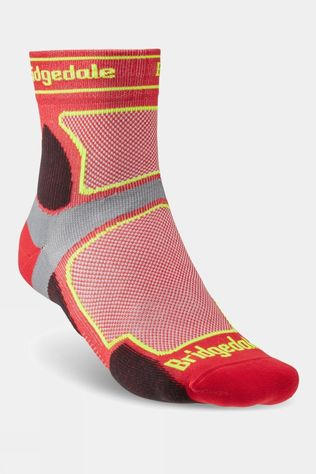 Bridgedale Mens Ultra Light T2 Coolmax Sport 3/4 Crew Sock Red