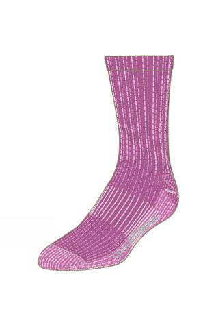 SmartWool Womens Hike Light Crew Socks Meadow Mauve