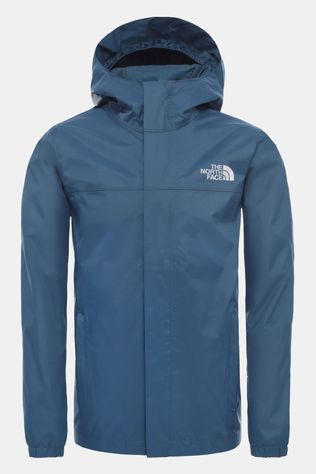 The North Face TNF Boys Resolve Rain Jacket Blue Wing Teal