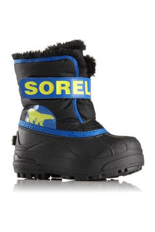 Sorel Kids Snow Commander Boot Black/Super Blue