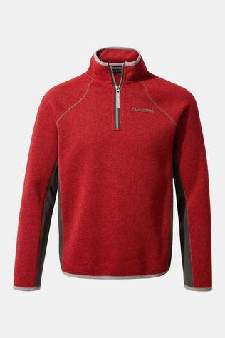Craghoppers Childrens Abilio Half Zip Fleece Sriracha Marl