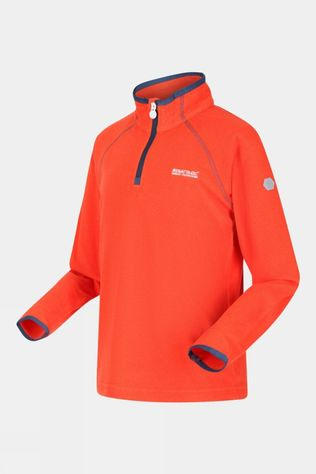 Regatta Kids Loco Half Zip Fleece Amber Glow/Magma