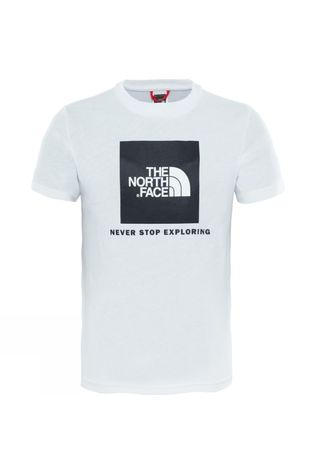 The North Face Youth Box Short Sleeve Tee TNF White