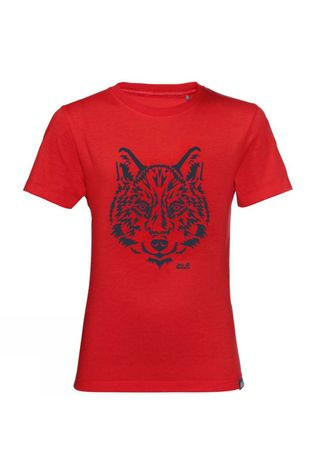 Jack Wolfskin Kids Brand T-Shirt 14+ peak red