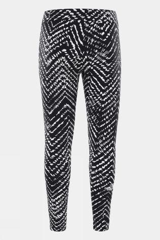 The North Face Girls Cotton Blend Legging Big Logo TNF Black Shibori Chevron Print