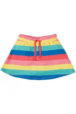 Frugi Childrens Spring Skort Bright Rainbow Stripe SS19