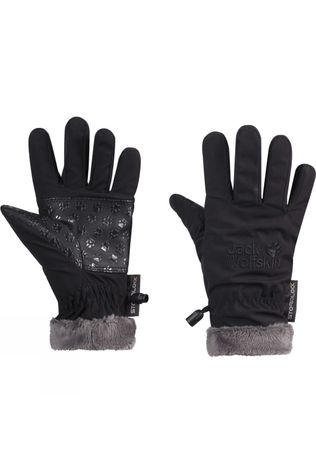 Jack Wolfskin Youth Softshell Highloft Glove Black
