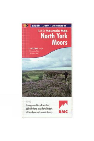 Harvey Maps North York Moors British Mountain Map 1:40K No Colour