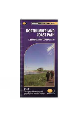 Harvey Maps Northumberland Coast Path Map 1:40K No Colour