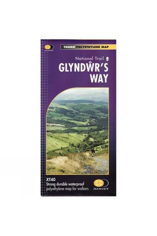 Harvey Maps Glyndwrs Way XT40 Map No Colour
