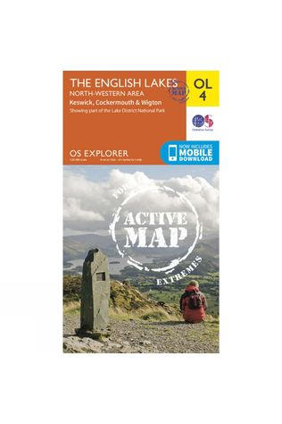 Ordnance Survey Active Explorer Map OL4 The Lake District - North Western Area V15