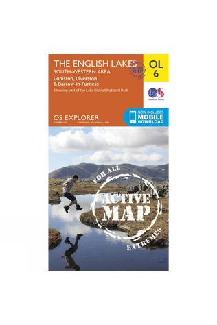 Ordnance Survey Active Explorer Map OL6 The Lake District - South-Western Area V15