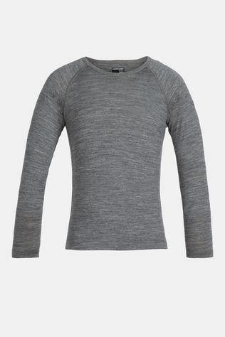 Icebreaker Boys 200 Oasis Long Sleeve Crew Top Gritstone Heather