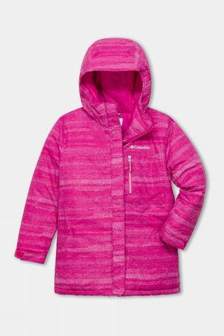 Columbia Girls'  Alpine Free Fall II Ski Jacket Pink Ice Compact