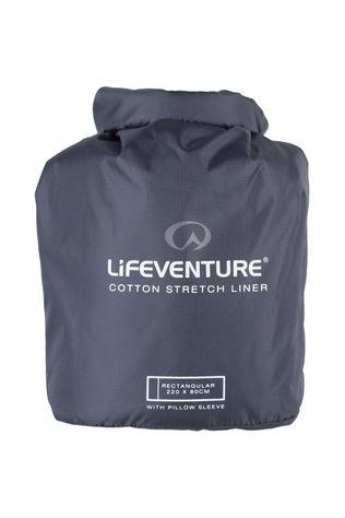 Lifeventure Cotton Stretch Sleeping Bag Liner Grey
