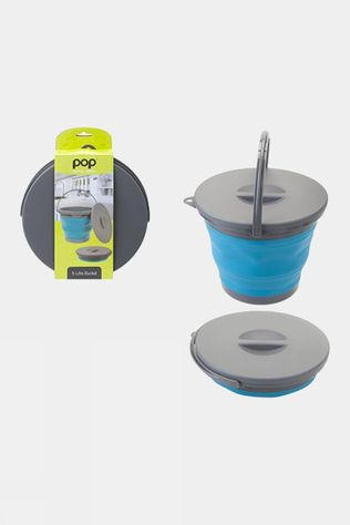 Summit Pop! Collapsible 5L Bucket Blue/Grey
