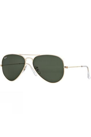 Ray Ban Aviator Large Sunglasses gold-green
