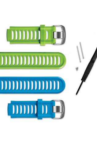 Garmin Forerunner 910XT Accessory Bands Kit includes green and blue bands