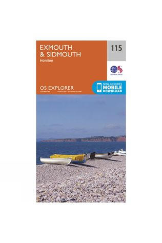 Ordnance Survey Explorer Map 115 Exmouth and Sidmouth V15