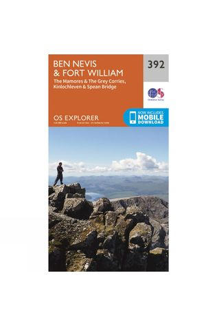 Ordnance Survey Explorer Map 392 Ben Nevis and Fort William V15