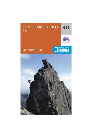 Ordnance Survey Explorer Map 411 Skye - Cuillin Hills V15