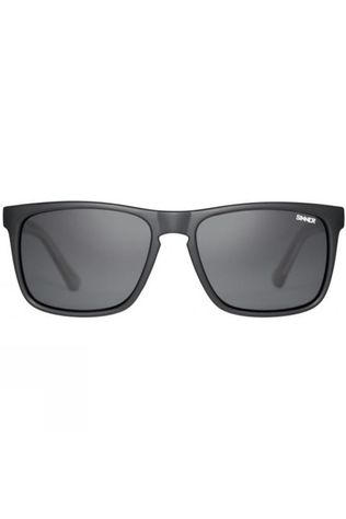 Sinner Oak Polarised Sunglasses Matt Black Crystal Grey/Smoke