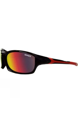 Sinner Eaton Sunglasses Shiny Black/Revo Red