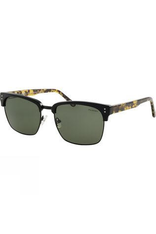 Dirty Dog Attic Salt Sunglasses Black Demi/Green Polarised