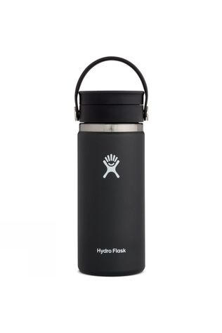 Hydro Flask Wide Mouth Flex Sip 16oz Coffee Flask Black