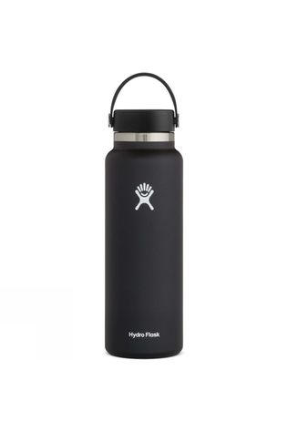 Hydro Flask Wide Mouth 40oz Flask w/Flex Cap Black