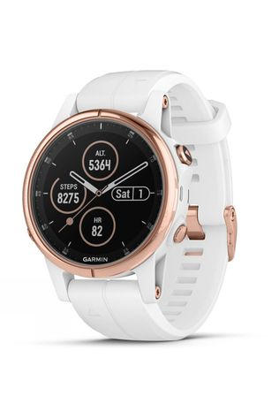 Garmin Fenix 5S Plus Sapphire Multisport GPS Watch Rose Gold/White