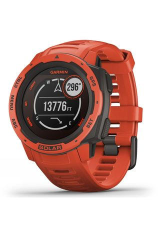 Garmin Instinct Solar GPS Watch Flame Red