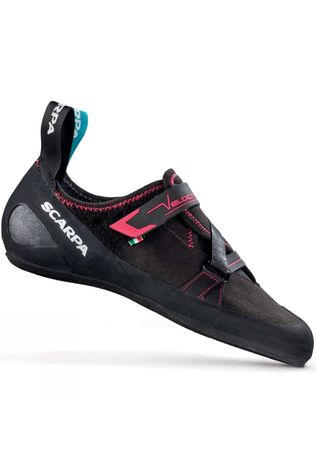 Scarpa Womens Velocity V Climbing Shoe Black/Bright Red
