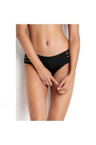 Seafolly Womens Active Swim Multi Strap Hipster Bikini Pant Black Black