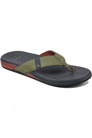 Reef Mens Cushion Bounce Phantom Flip Flop Olive/Red