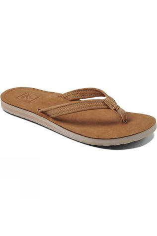 Reef Womens Voyage Lite Leather Flip Flop Tobacco