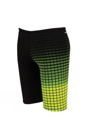 Zoggs Men's Darwin Jammer Black / Neon Yelllow