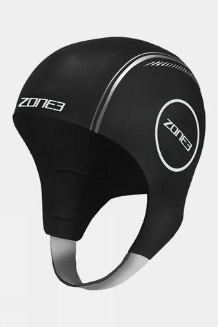 Zone3 Neoprene Swim Cap  Black/Silver