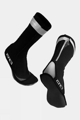 Zone3 Neoprene Swim Socks Black/Silver