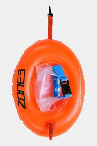 Zone3 On the Go Swim Safety Buoy - Dry Bag High-Vis Orange