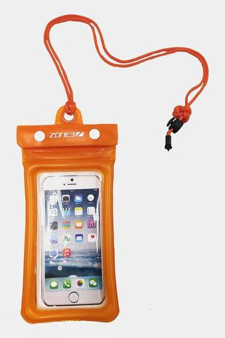 Zone3 Waterproof Phone Pouch Clear/Orange