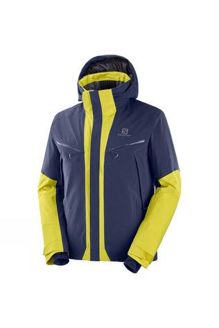 Salomon Mens Icecool Jacket Night Sky/Citronell