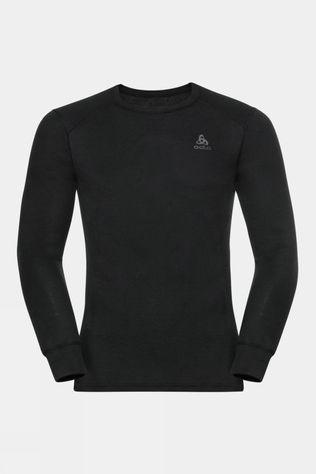 Odlo Mens Active Warm Eco Long-Sleeve Baselayer Top Black