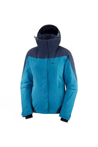 Salomon Womens Icerocket Jacket Lyons Blue/Night Sky