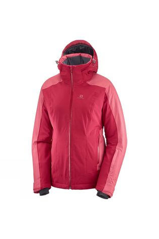 Salomon Womens Brilliant Jacket Rio Red/Garnet Rose