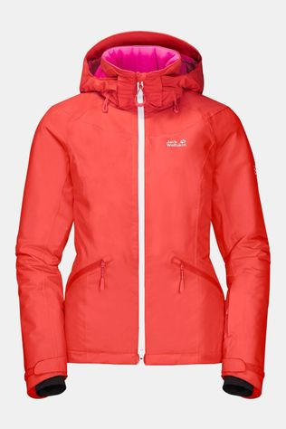 Jack Wolfskin Womens Powder Mountain Jacket Orange Coral