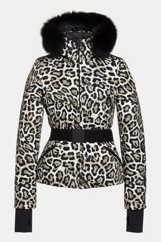 Goldbergh Womens Wild Faux Fur Jacket Leopard