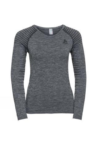 Odlo Womens Performance Light LS Crew Neck Grey Melange