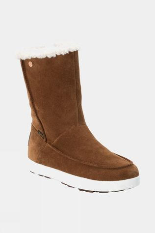Jack Wolfskin Womens Auckland Texapore Winter Boot Desert Brown / White