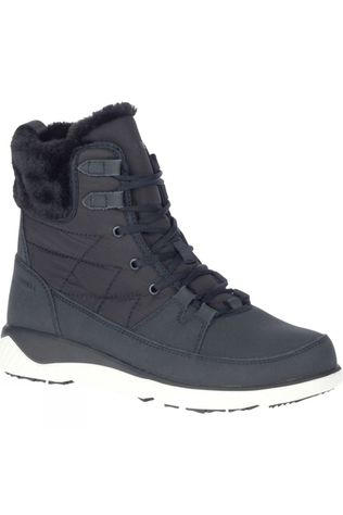 Merrell Womens Farchill Mid Lace Polar AC WP Boot Black